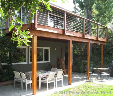 second story deck plans pictures matching second story deck with cable railing woodland