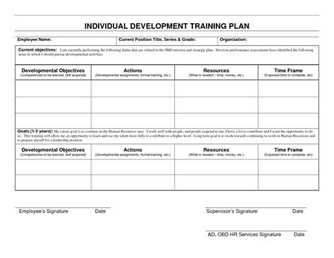 best photos of training and development plan template