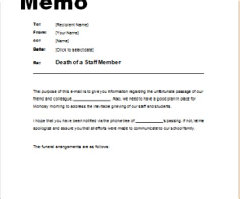 Sle Memo Mandatory Staff Memo Template 28 Images 9 Best Images Of
