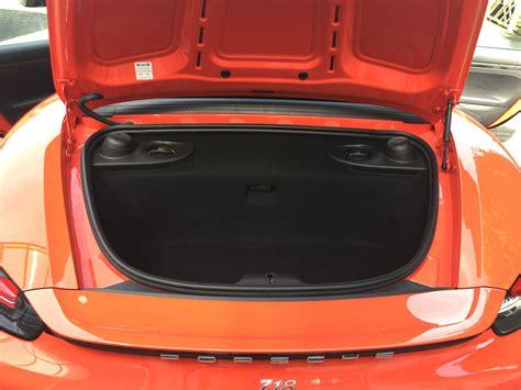 Porsche Boxster Kofferraum by Porsche Boxster 718 Testbericht 2carlovers