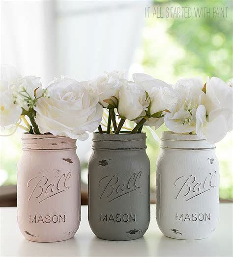 Glass Canisters Kitchen how to paint and distress mason jars