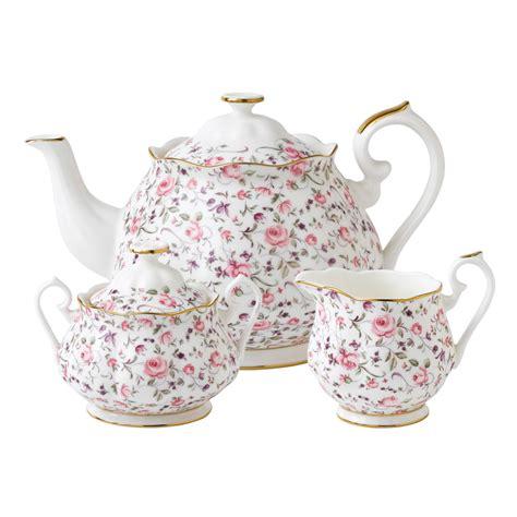 rose royal royal albert rose confetti teapot sugar creamer set