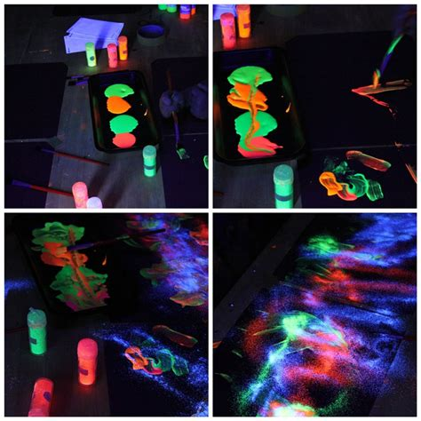 glow in the paint experiments glow in the crafts