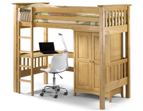 Julian Bowen Barcelona Bunk Bed Julian Bowen Bedsitter Bunk Bed Barcelona Style Separate Wardrobe Computer Desk Top