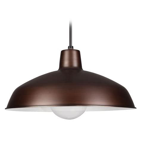 Sea Gull Lighting Painted Shade Pendants Antique Brushed Copper Shade Pendant Light