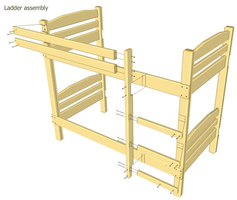 Simple Bunk Bed Plans by Bunk Bed Plans