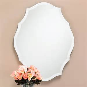 Kids Arts And Crafts Table - beveled shield shaped frameless mirror wall mirrors
