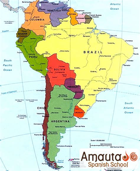 south america map in map of south america labeled in images