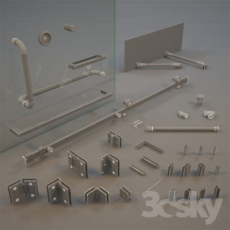 3d models shower accessories for glass shower enclosures