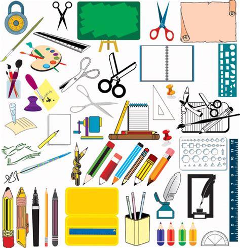school supplies template vector free school supplies vector free vector 4vector