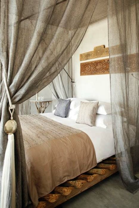 Bed Frame With Curtains Inspire Bohemia Beautiful Bedrooms Part Iv