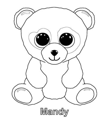 ty beanie boos coloring pages party ideas pinterest