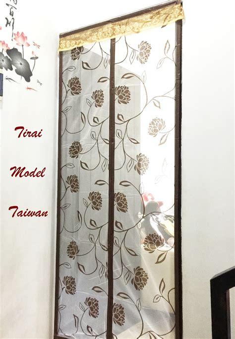 Tirai Taiwan Jual Tirai Model Taiwan New Coklat Bunga Batik Tirai Anti