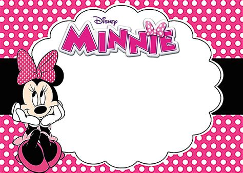 Minnie Mouse Template Invitation by Printable Minnie Mouse Invitations Picture Fiftyplates