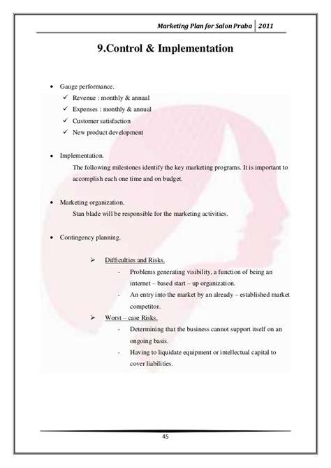marketing plan for salon praba marketing plan for salon praba