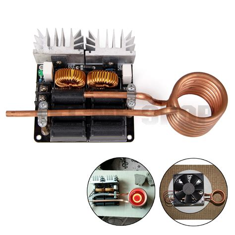 induction heating brass low voltage induction heating board brass coil diy 1000w zvs low voltage ebay
