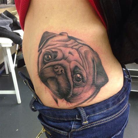 cute side tattoos black and white pegasus on side rib