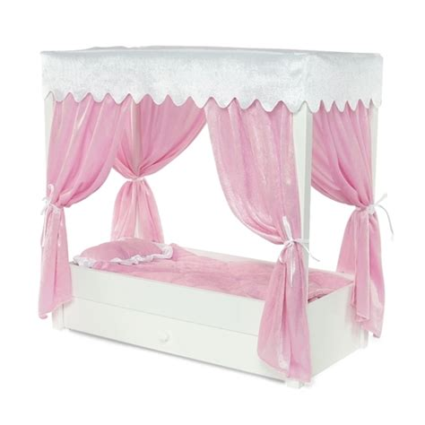 ag doll beds 18 inch doll furniture princess canopy bed with drawer fits american girl 174 dolls