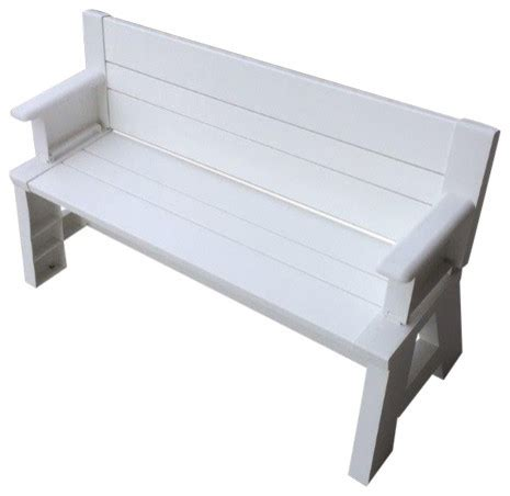 converta bench premiere products convert a bench in white reviews houzz