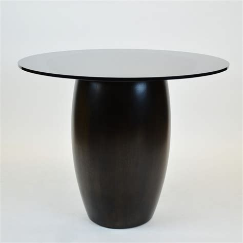 christian liaigre tonneau pedestal dining table for