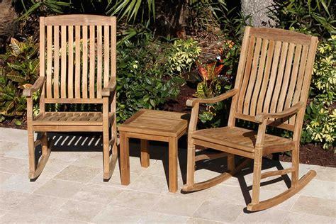 set   teak rocking chairs cm side table oceanic