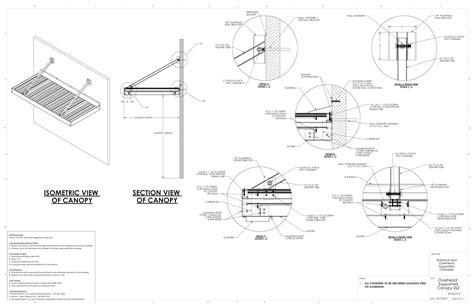 Awning Construction Details by Canopy Detail Cad Drawings