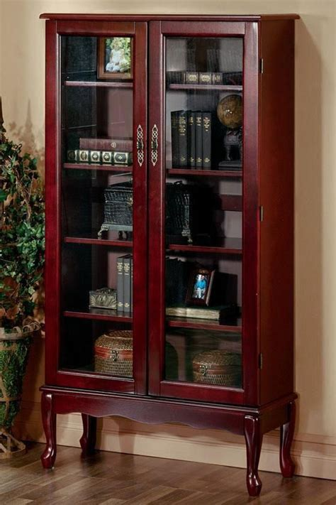 cherry bookcase with glass doors 14 best credenza and executive desk images on