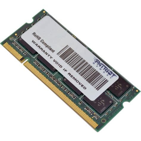 Memory Sodimm 4gb patriot 4gb signature series ddr2 800 mhz so dimm psd24g8002s