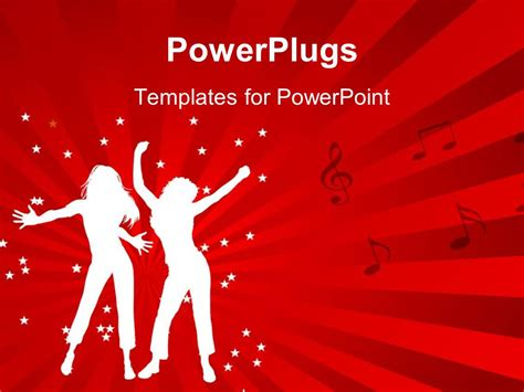 templates powerpoint dance powerpoint template animated depiction of two ladies