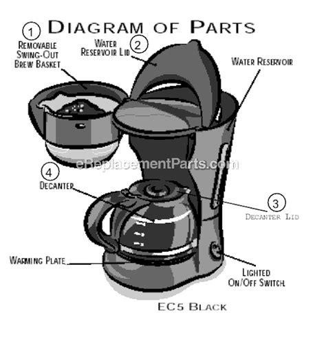 Mr. Coffee EC5 Parts List and Diagram : eReplacementParts.com