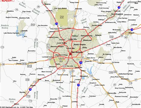 map to san antonio texas map of san antonio tx