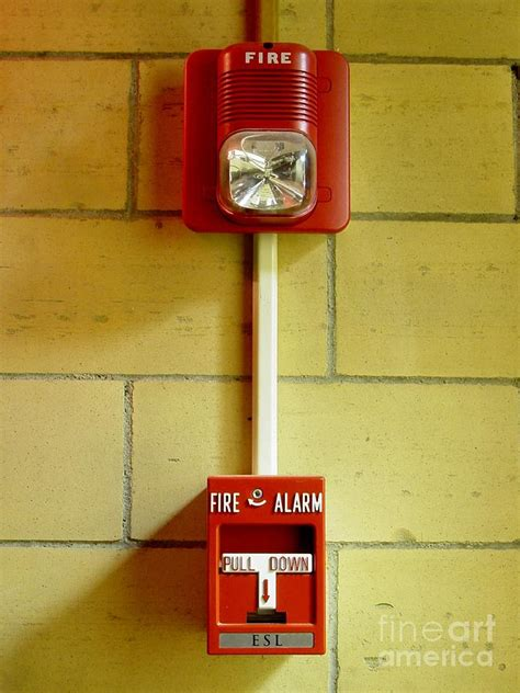 fire alarm horn strobe and pull station photograph by ben