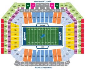 Ford Field Seat Map Nfl Stadium Seating Charts Stadiums Of Pro Football