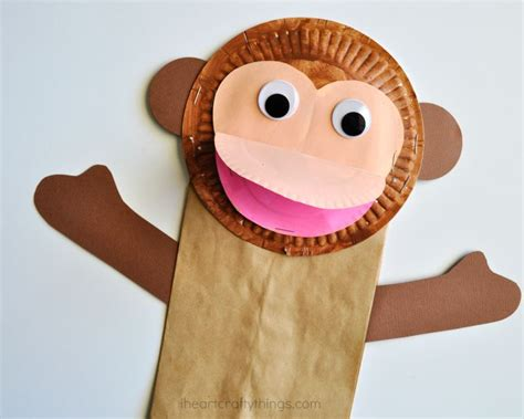 Paper Plate Monkey Craft - paper plate crafts a and creative activity for