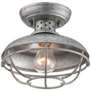 galvanized light fixture semi flushmount galvanized outdoor ceiling light