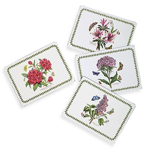 Portmeirion Botanic Garden Placemats Portmeirion Botanic Garden Hardback Placemats Set Of 4 Bed Bath Beyond