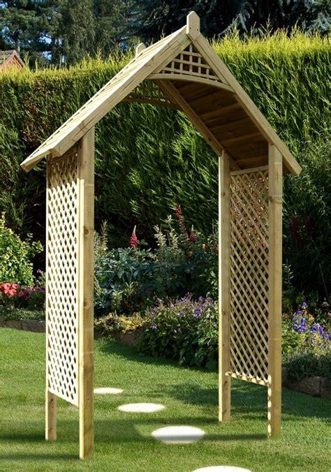 Garden Arch Build The Valencia Wooden Garden Arch Gazebo Direct
