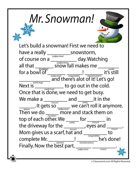 printable christmas mad libs winter mad libs woo jr kids activities