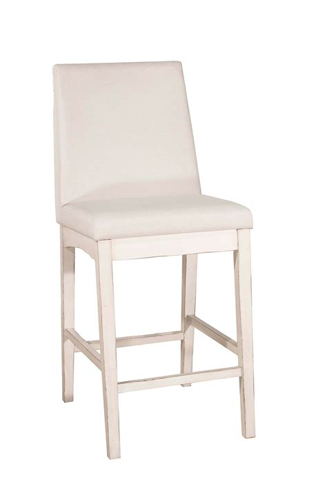 White Material In Stool by Hillsdale Clarion Non Swivel Counter Height Stool Sea