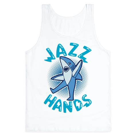 baby shark jazz left shark jazz hands tank tops human