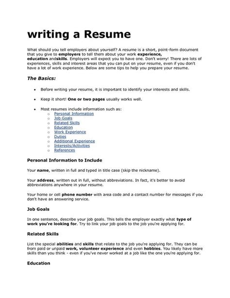 how to write a resume that will get you an
