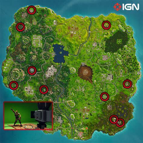 fortnite cameras fortnite hop rock and locations and map