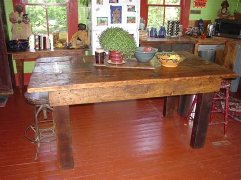 kitchen island farm table primitive folks john sperry folk art danette sperry
