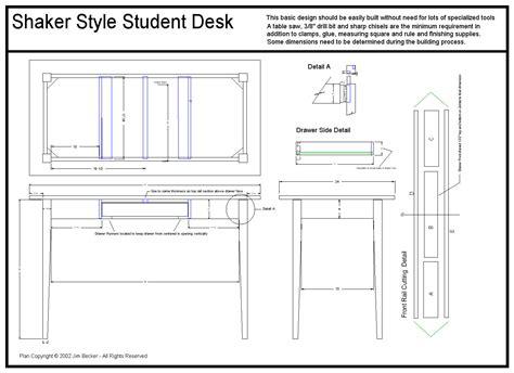 Plans Student Desk Plans Diy Free Download Plans Bookcase Student Desk Plans To Build