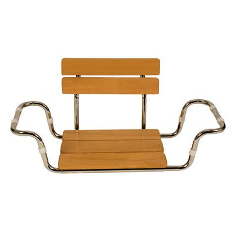 sedile per vasca da bagno sedile in legno con schienale per vasca da bagno ausili