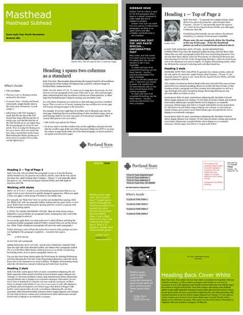 Free Email Newsletter Templates To Create E Newsletters For Any Busines Free Email Newsletter Templates Word
