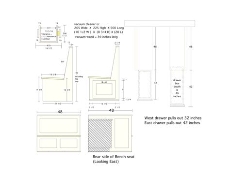 dimensions for bench seating kitchen nook dimensions kitchen pinterest