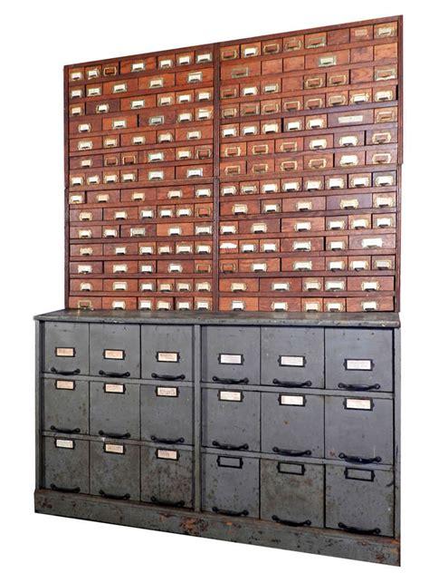 Cabinet Hardware Store 190 Draw Oak Step Back Hardware Store Cabinet At 1stdibs