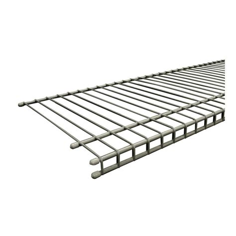 closetmaid wire shelving closetmaid superslide 48 in w x 12 in d nickel ventilated wire shelf 34714 the home depot