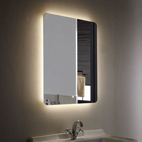 led bathroom mirror decoraport vertical illuminated light led backlit bathroom